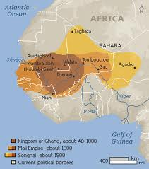 Império Songhoy - abrange 7 países da atual África