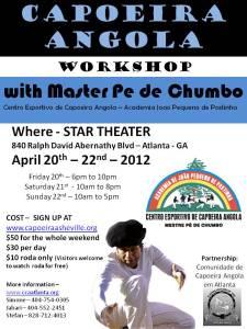 Cartaz do Workshop em Atlanta. Abril 2012