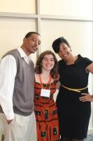 Garfield Bright, Simone Nogueira e Crystal Bradley.